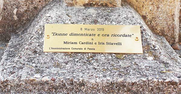 foto 2. Pescia-targa in ricordo di Miriam Cardini e Iris Stiavelli copia.jpg