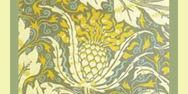 illustrazioni artistiche del carciofo esposte nella casa-museo di W.Morris a Londra.600x300
