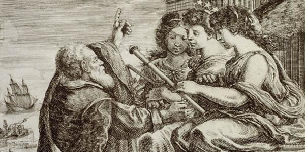 FOTO 600x300 acquaforte Stefano Della Bella.XVII secolo.Frontispiece for the Opere di Galileo Galilei.jpg