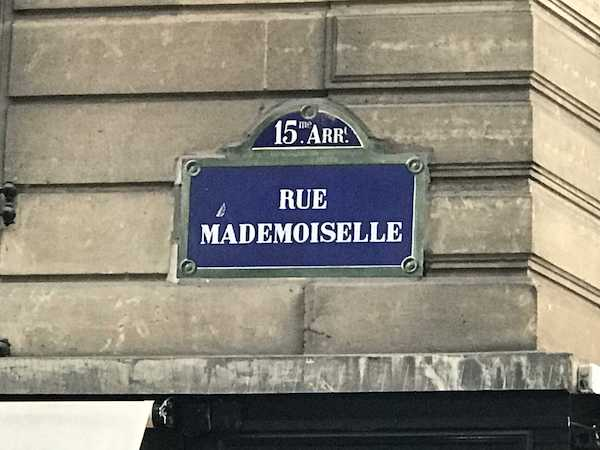 2. Paris. Mademoiselle.Caione