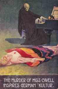 Figura 9 The murder of miss Cavell inspires German Kultur