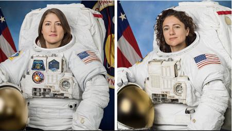 Foto 1 Christina Koch e Jessica Meir - NASA credit