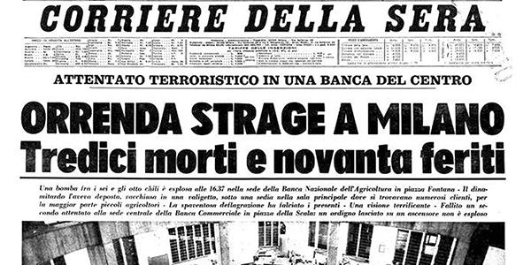2.La prima pagina del Corriere della sera. Il calcolo delle vittime è ancora provvisorio