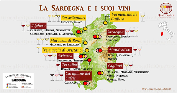 Carta dei vini della Sardegna