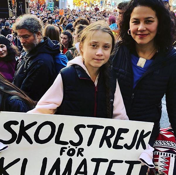 Foto 1. Con Greta allo sciopero scolastico del clima