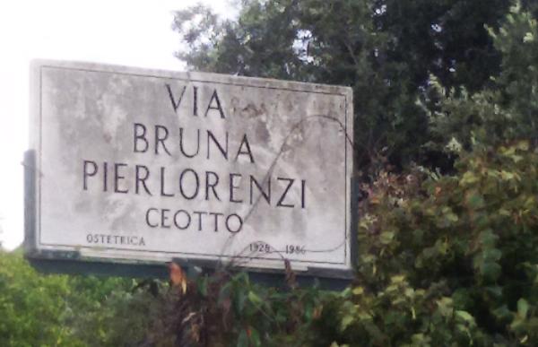 FOTO. Via Bruna Pierlorenzi Ceotto