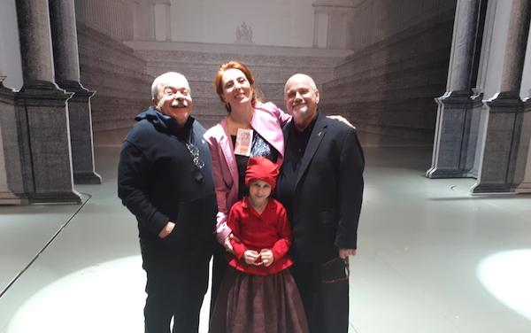 Foto 3.William Orlandi, Sarah Schinasi, Andrea Merli e la piccola Neja Kapun