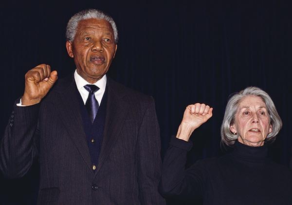 Nelson Mandela and Nadine Gordimer Sing Anthem