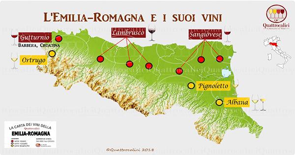 FOTO 1.I vini dell'emilia-romagna. Fonte Quattrocalici
