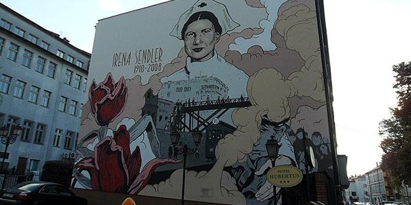 4. Murale dedicato a Irena Sendler a Rzeszów