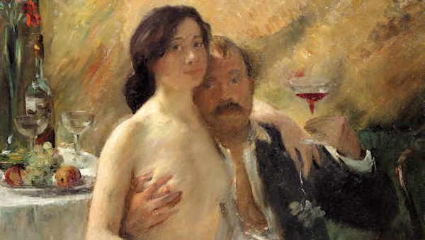Fig. 3_Autoritatto con la sua donna e un bicchiere di vino_lovis-corinth