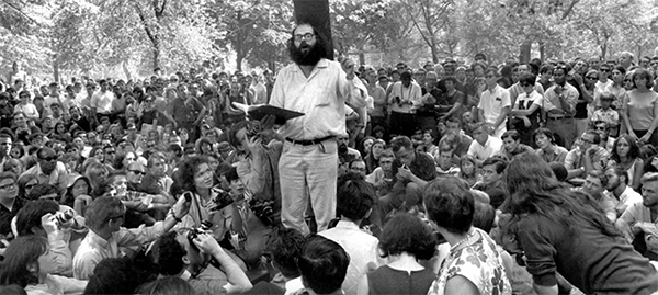 FOTO 2Allen Ginsberg in un parco di washington. Dan Farrell NY daily News Getty