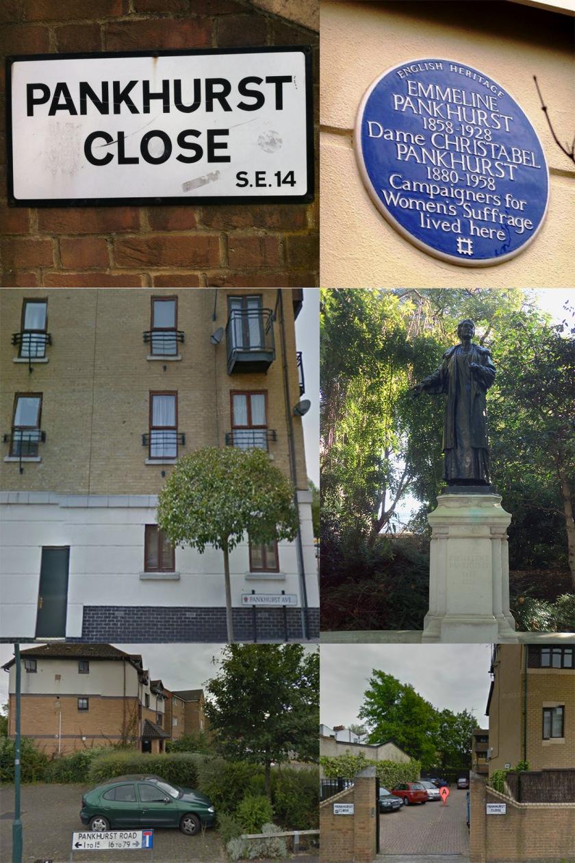 Foto 1. Londra e dintorni.collagePankhurst di FedericaSbaffo