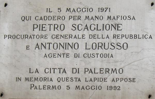 FOTO. Pietro_Scaglione_-_Antonino_Lorusso_-_Lapide_Palermo