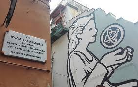 Via Ipazia murales