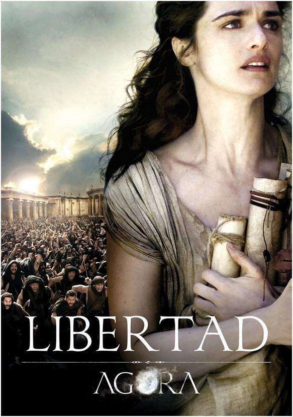 1.Locandina spagnola del film Agora, di Alejandro Amenabar