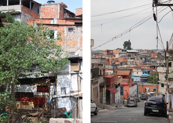 baracca in legno (sinistra) e baracche in mattoni (destra)