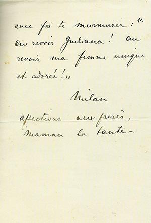 Foto 3. l'ultima lettera di Milan