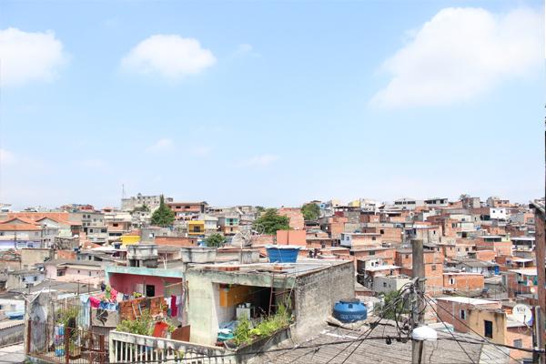La favela di Vila Flavia_vista dall'alto
