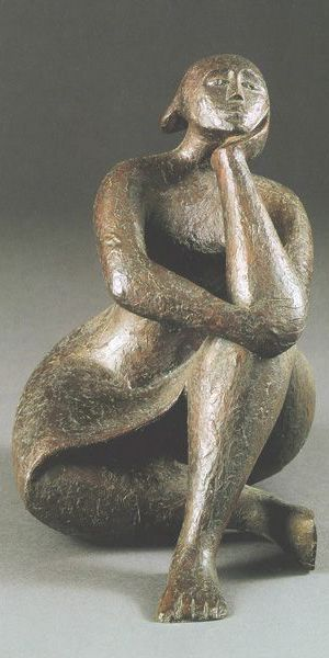 Fig.7_ Pensive figure_Elizabeth Catlett