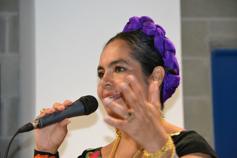 Figure 4 Martha Toledo Martinez, portavoce della comunità di Juchìteca in Messico. Credit_Associazione Laima, Culture Indigene di Pace 2012