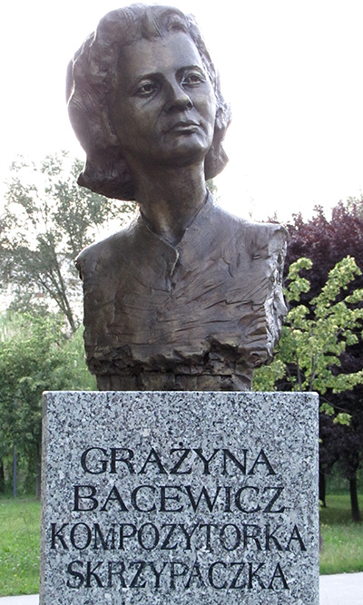 Bust of Grażyna Bacewicz in Celebrity Alley in Kielce (Poland