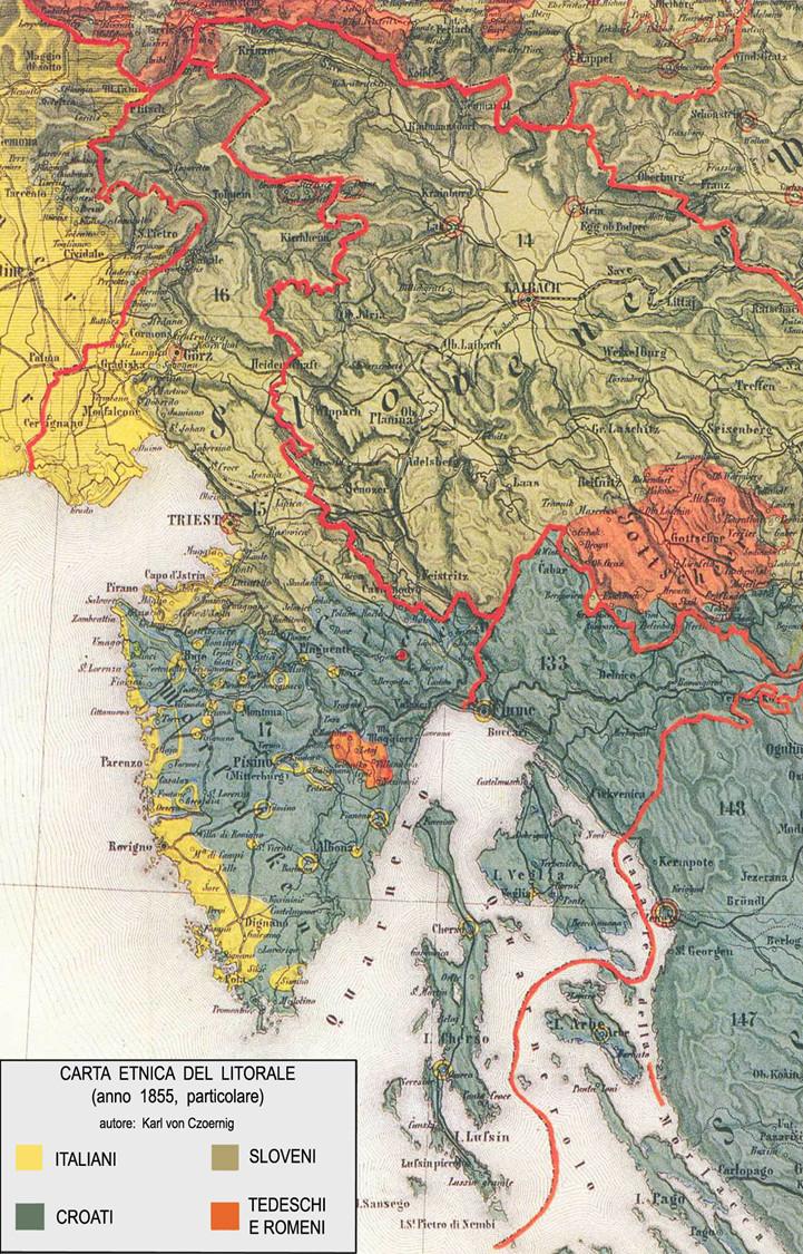 Carta etnico linguistica. Narodni