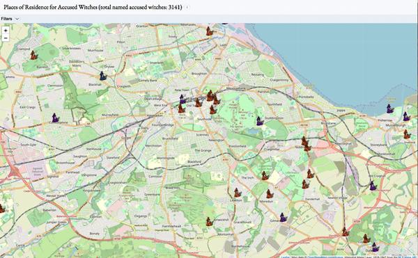 Foto13 Mappa interattiva online delle Witches finite al rogo creata dall'Università di Edimburgo (Scozia)