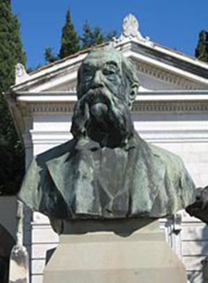 monumento funebre nel cimitero fiorentino