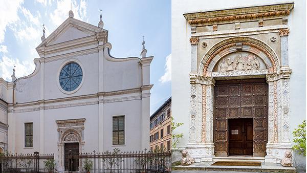 1. Santa Maria delle Grazie. Facciata e portale