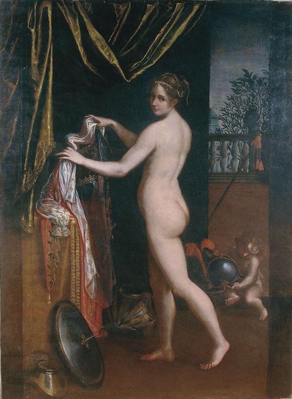 5. Minerva in atto d'abbigliarsi