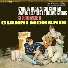 Foto2. Gianni Morandi e Mauro Lusini nella copertina di C'era un ragazzo che come me amava i Beatles e i Rolling Stones