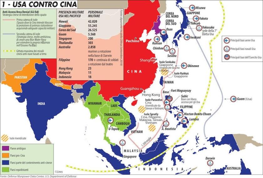 FOTO 3. La Cina non vuole una guerra ma intanto la prepara. Dalla newsletter del mese di settembre