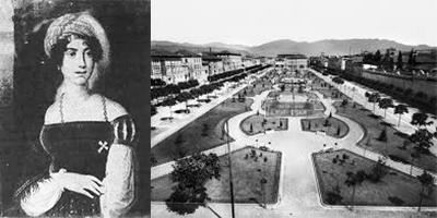 La contessa Anna e il pubblico passeggio Giardini di via dei Mille. Anni Venti2 copia