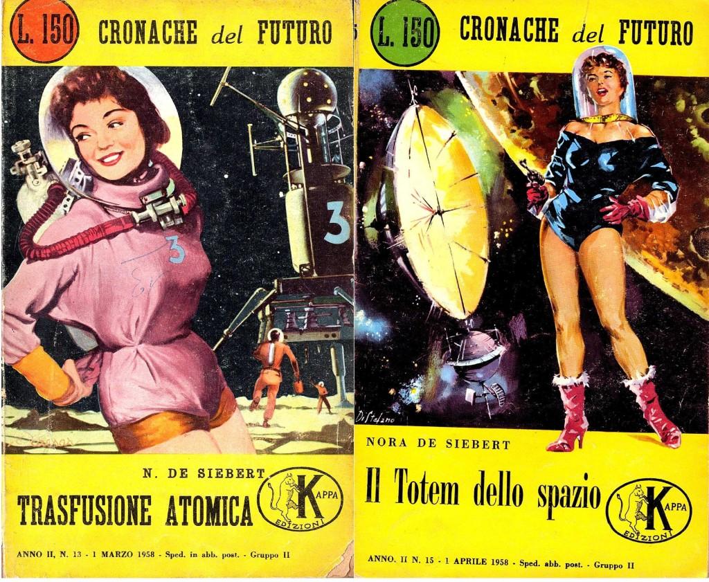 copertine romanzi di fantascienza nora de siebert
