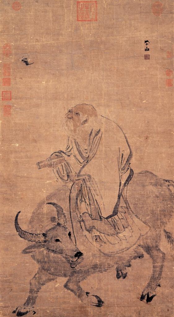 Rotolo che ritrae il filosofo Lao Tze