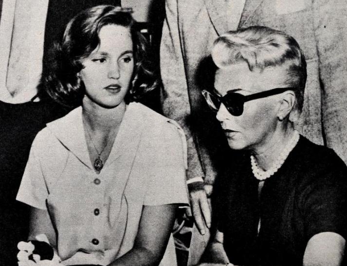 Cheryl Turner e Lana Turner al processo per l'omicidio di Joe Stompanato